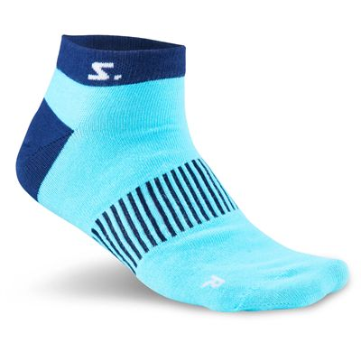 Salming Running Ankle Socks-Assorted-Pack of 3-Navy-Light-Blue