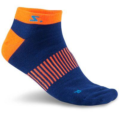 Salming Running Ankle Socks-Assorted-Pack of 3-Navy-Orange