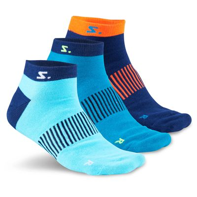 Salming Running Ankle Socks-Assorted-Pack of 3