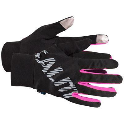 Salming Running Gloves-Black/Pink