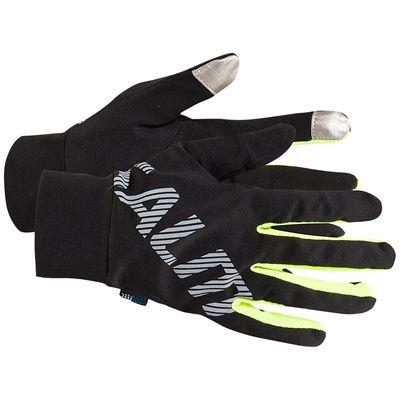 Salming Running Gloves-Black/Yellow