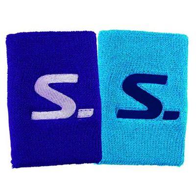 Salming Short Wristbands - Pack of 2 - Light Blue/Purple
