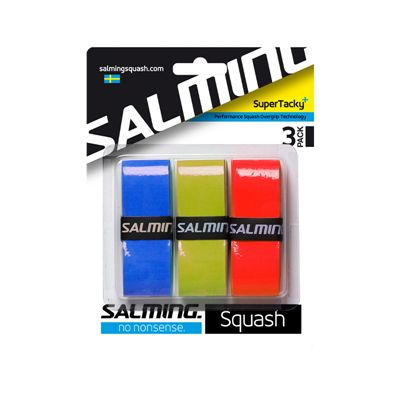 Salming SuperTacky Plus Overgrip - Pack of 3 - Assorted