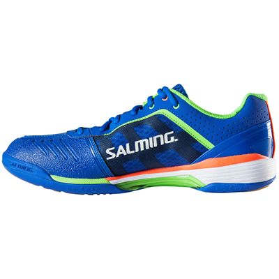 Salming Viper 3 Mens Court Shoes-Blue-Green-Side