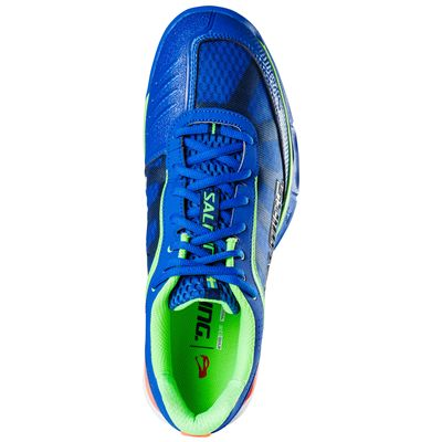 Salming Viper 3 Mens Court Shoes-Blue-Green-Top