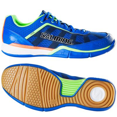 Salming Viper 3 Mens Court Shoes-Blue-Green