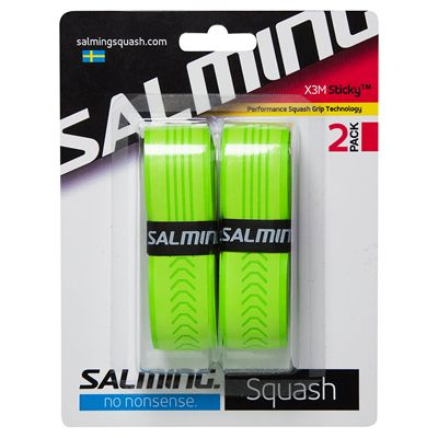 Salming X3M Sticky Replacement Grip - Pack of 2Salming X3M Sticky Replacement Grip - Pack of 2 - Green