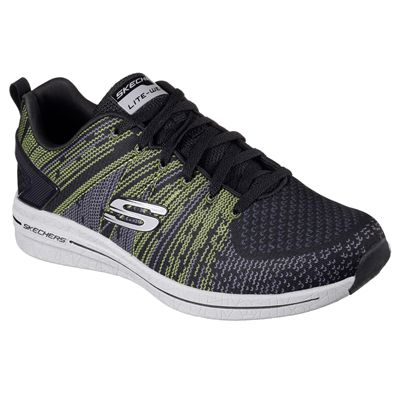 Skechers Burst 2.0 In the Mix II Mens Athletic Shoes-lime-angle