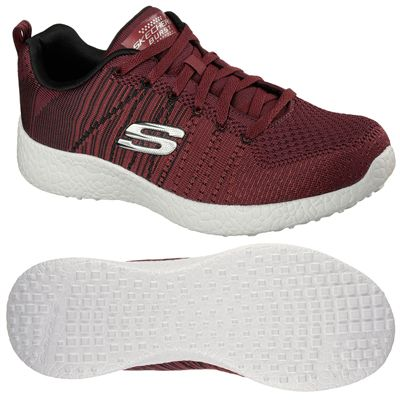 Skechers Burst In the Mix Mens Athletic Shoes - Burgundy