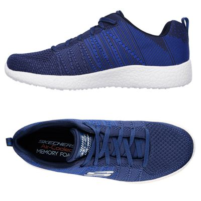 Skechers Burst In the Mix Mens Athletic Shoes - NavyBlue - Alt.View