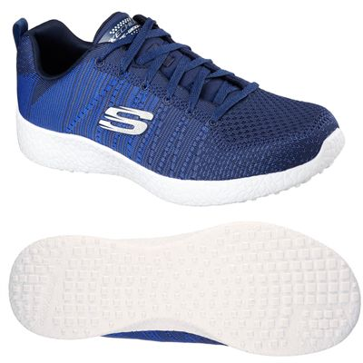 Skechers Burst In the Mix Mens Athletic Shoes - NavyBlue