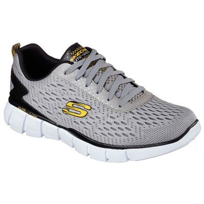 Skechers Equalizer 2.0 Settle The Score Mens Running Shoes-Grey and Yellow-Main Image