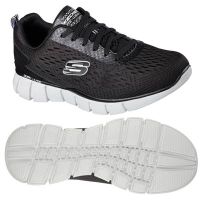 Skechers Equalizer 2.0 Settle the score Mens Walking Shoes-Black-Grey