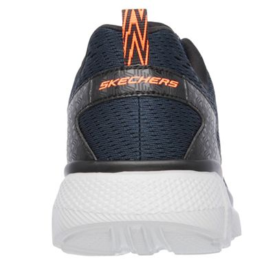 Skechers Equalizer 2.0 Settle the score Mens Walking Shoes-Navy-Orange-Back