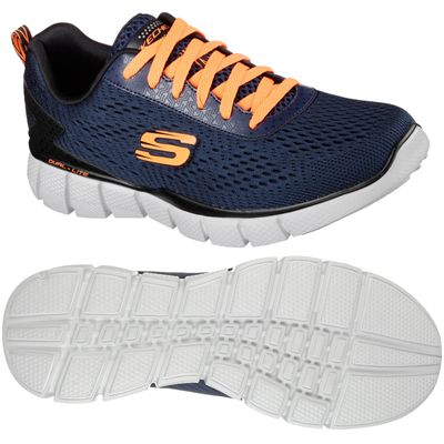 Skechers Equalizer 2.0 Settle the score Mens Walking Shoes-Navy-Orange