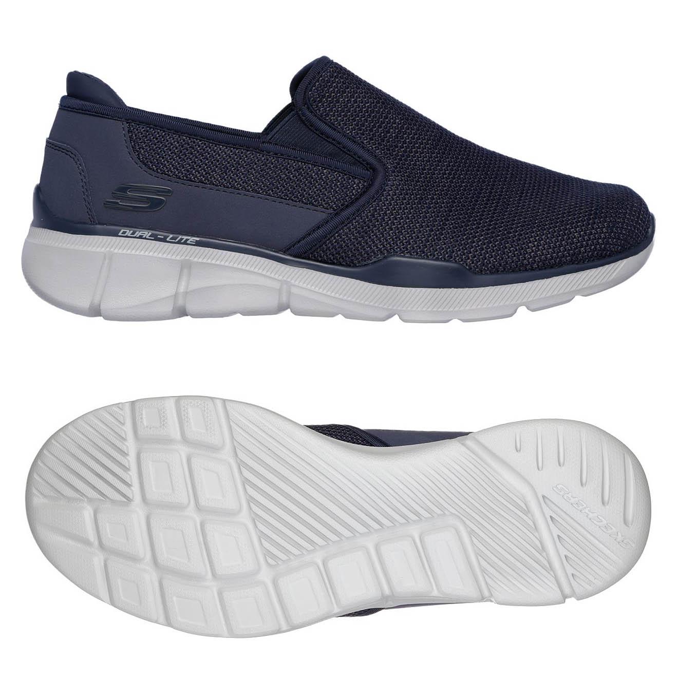 Skechers Equalizer 3.0 Sumnin Mens Walking Shoes - Navy, 10.5 UK