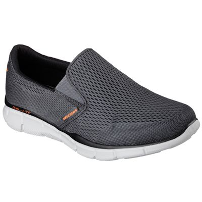 Skechers Equalizer Double Play Mens Running Shoes-Grey-Angled