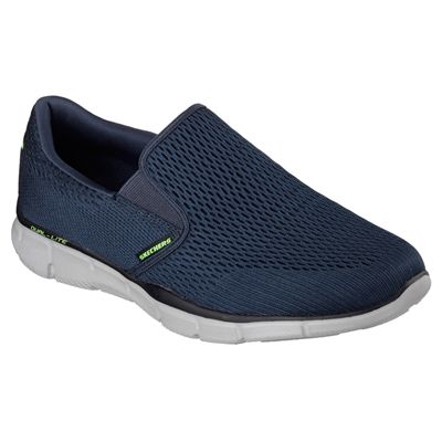 Skechers Equalizer Double Play Mens Running Shoes-Navy-Angled
