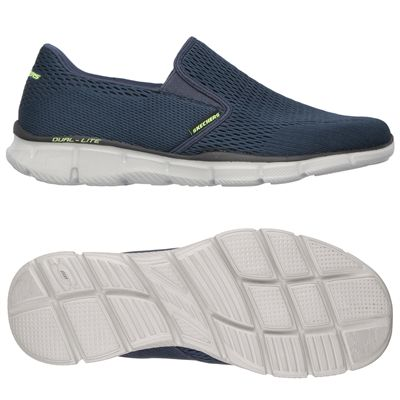 Skechers Equalizer Double Play Mens Running Shoes-Navy