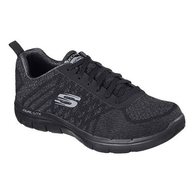 Skechers Flex Advantage 2.0 Golden Point Mens Walking Shoes-Black