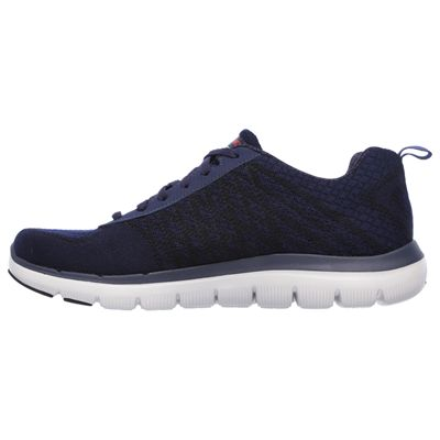 Skechers Flex Advantage 2.0 Golden Point Mens Walking Shoes-Navy/Red-Medial