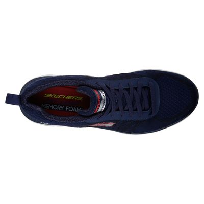 Skechers Flex Advantage 2.0 Golden Point Mens Walking Shoes-Navy/Red-Top