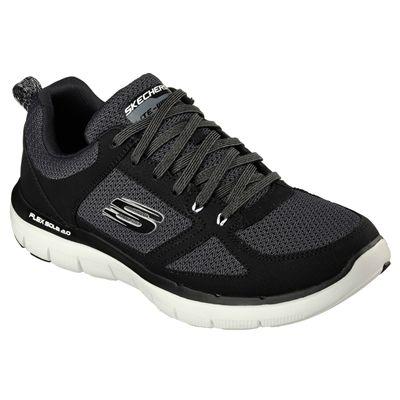 Skechers Flex Advantage 2.0 Mens Running Shoes-Black-White-Angled