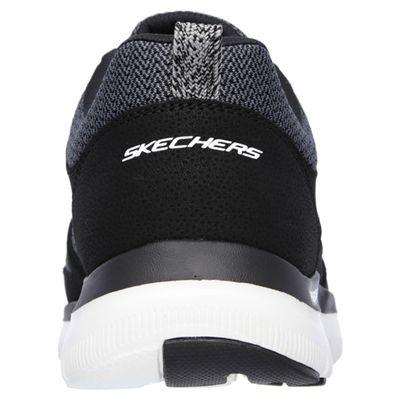 Skechers Flex Advantage 2.0 Mens Running Shoes-Black-White-Back