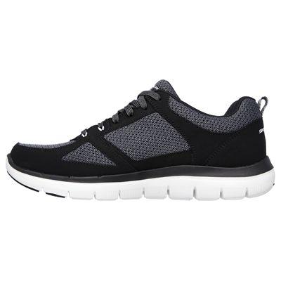Skechers Flex Advantage 2.0 Mens Running Shoes-Black-White-Side