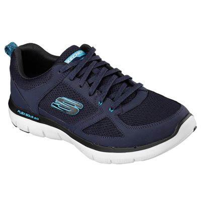 Skechers Flex Advantage 2.0 Mens Running Shoes-Navy-Blue-Angled