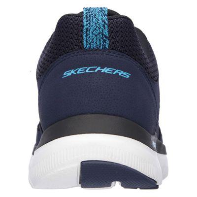 Skechers Flex Advantage 2.0 Mens Running Shoes-Navy-Blue-Back