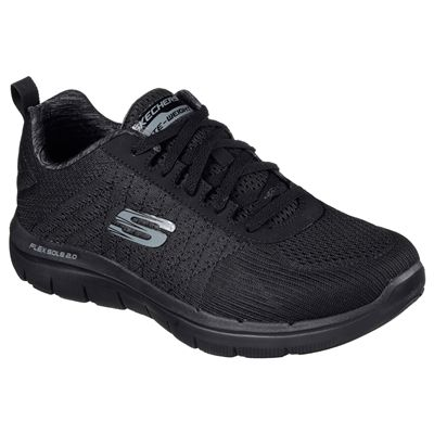 Skechers Flex Advantage 2.0 The Happs Mens Shoes-black-angle
