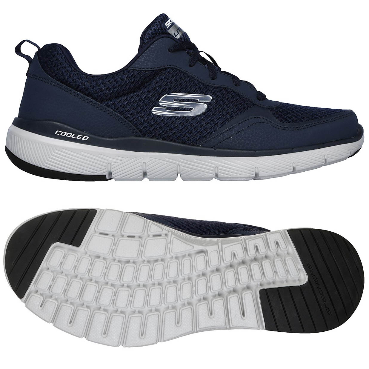 Skechers Flex Advantage 3.0 Mens Training Shoes - Navy, 11 UK