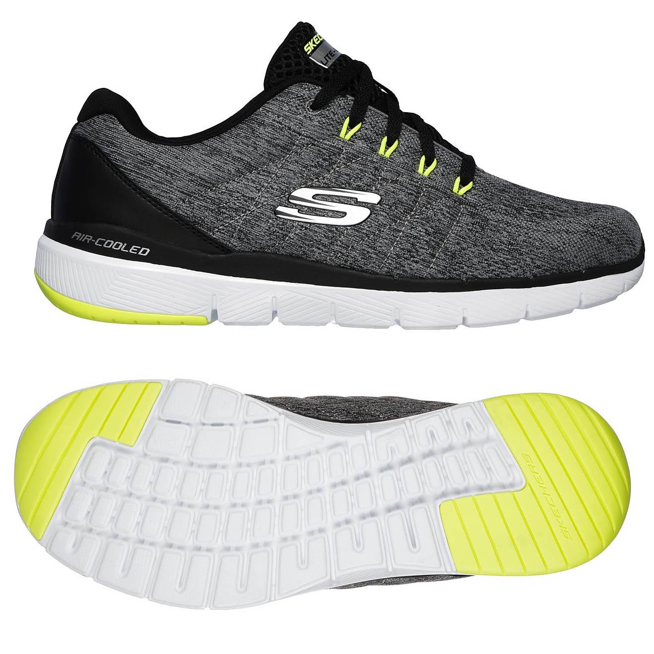 Skechers Flex Advantage 3.0 Stally Mens Training Shoes - Grey, 7 UK