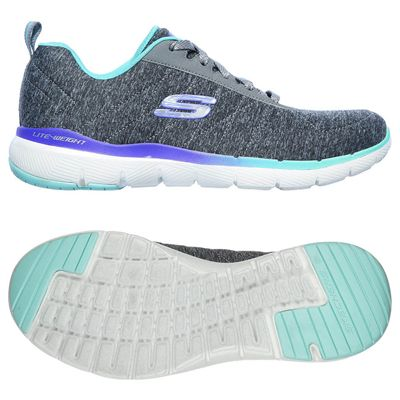 Skechers Flex Appeal 3.0 Fan Craze Ladies Training Shoes - Grey