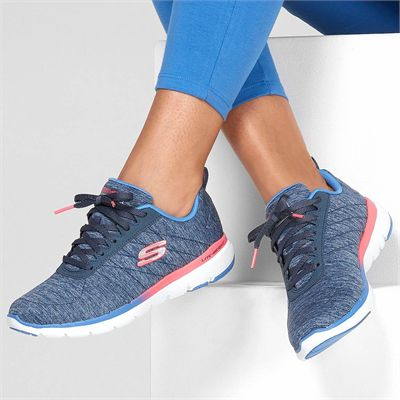 Skechers Flex Appeal 3.0 Fan Craze Ladies Training Shoes - In Use