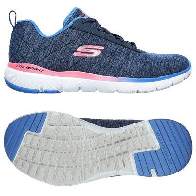 Skechers Flex Appeal 3.0 Fan Craze Ladies Training Shoes - Navy
