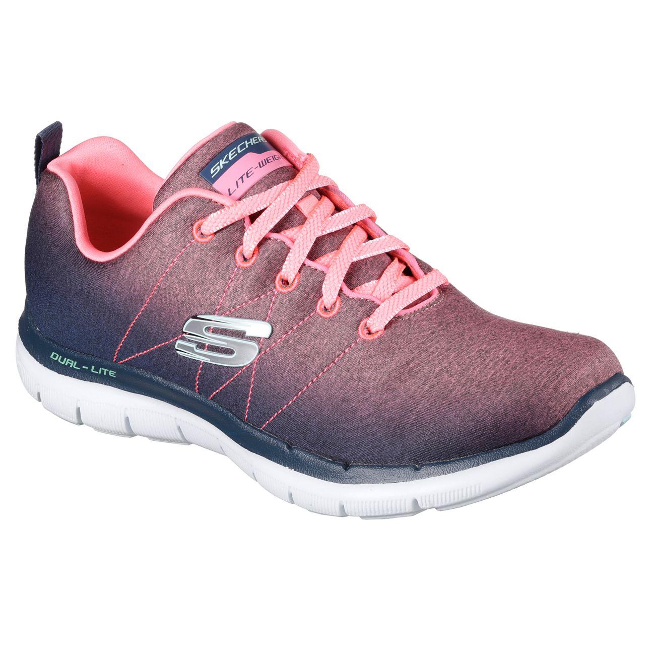 skechers flex appeal bright side ladies training shoes. Black Bedroom Furniture Sets. Home Design Ideas