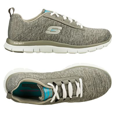 Skechers Sport Flex Appeal Next Gen Ladies Running Shoes-Grey and Blue - Alternative View