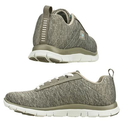 Skechers Sport Flex Appeal Next Gen Ladies Running Shoes-Grey and Blue - Images