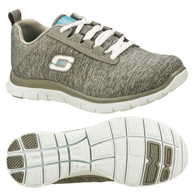 Skechers Sport Flex Appeal Next Gen Ladies Running Shoes-Grey and Blue - Main Image