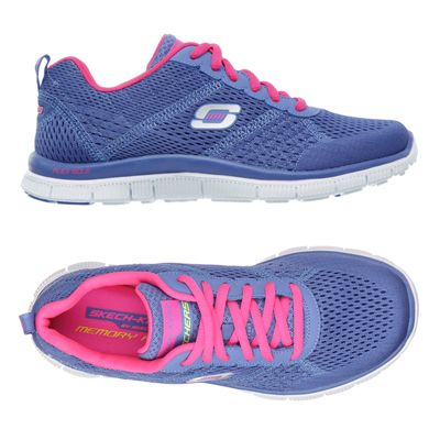 Skechers Sport Flex Appeal Obvious Choice Ladies Running Shoes-Purple-Pink-Alternative View