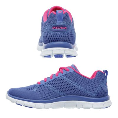 Skechers Sport Flex Appeal Obvious Choice Ladies Running Shoes-Purple-Pink-Images