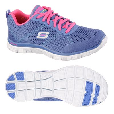 Skechers Sport Flex Appeal Obvious Choice Ladies Running Shoes-Purple-Pink-Main Image