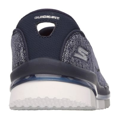 Skechers Go Flex Ladies Running Shoes-Navy-Grey-Back