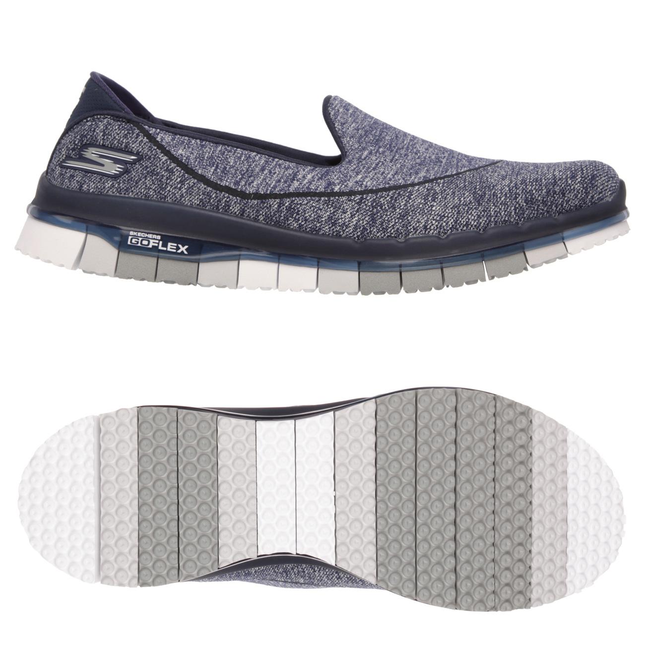 Skechers Go Flex Ladies Walking Shoes  NavyGrey 8 UK