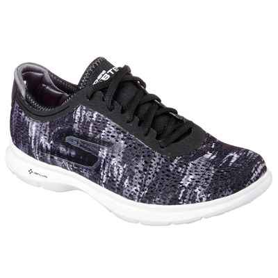 Skechers Go Step Ladies Athletic Shoes SS17- Black - Front