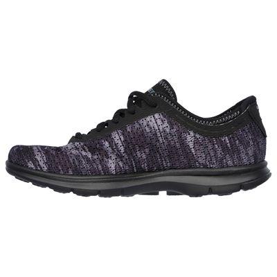 Skechers Go Step Ladies Running Shoes-Black-Side