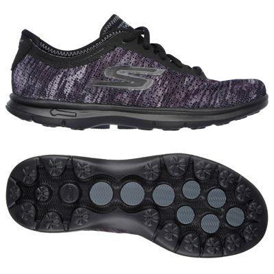 Skechers Go Step Ladies Running Shoes-Black