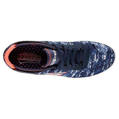 Skechers Go Step Ladies Running Shoes-Navy-Orange-Top